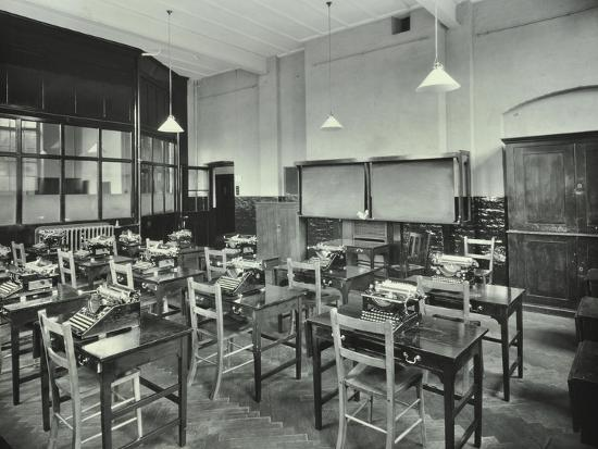 Typewriting Room, Balham and Tooting Commercial Institute, London, 1931--Photographic Print