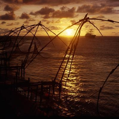 Typical Chinese-Style Fishing Nets in Use in Cochin Harbour--Giclee Print