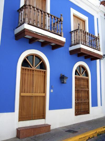 Typical Colonial Architecture, San Juan, Puerto Rico, USA, Caribbean-Miva Stock-Photographic Print