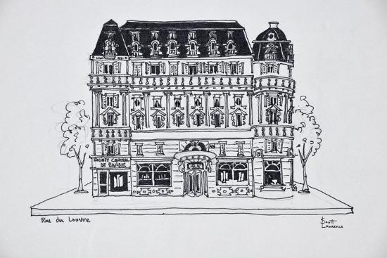 Typical Haussmann architecture on Rue du Louvre, Paris, France-Richard Lawrence-Premium Photographic Print