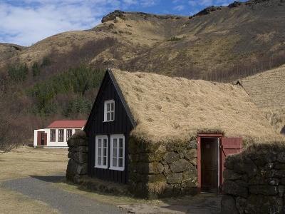 Typical Icelandic House From the Last Century, Skoga Museum, Near Skogafoss, South Iceland--Photographic Print