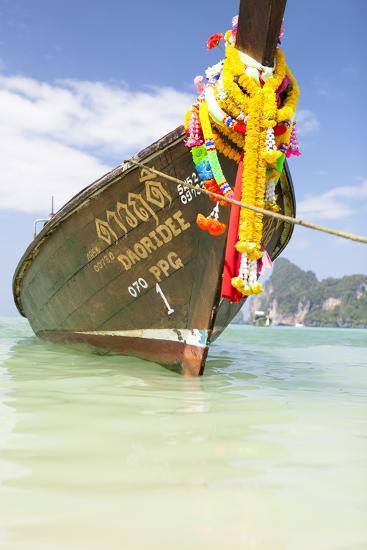 Typical Longtail Boat at Koh Phi Phi, Thailand, Andaman Sea-Harry Marx-Photographic Print
