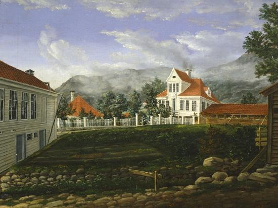 Typical Middle Class Home in Bergen, Norway 19th Century--Giclee Print