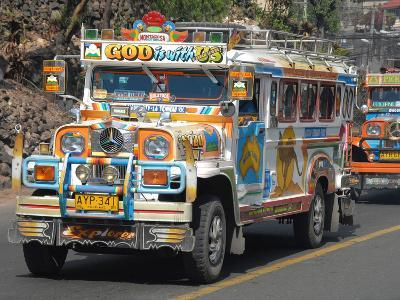 Typical Painted Jeepney (Local Bus), Baguio, Cordillera, Luzon, Philippines, Southeast Asia, Asia--Photographic Print
