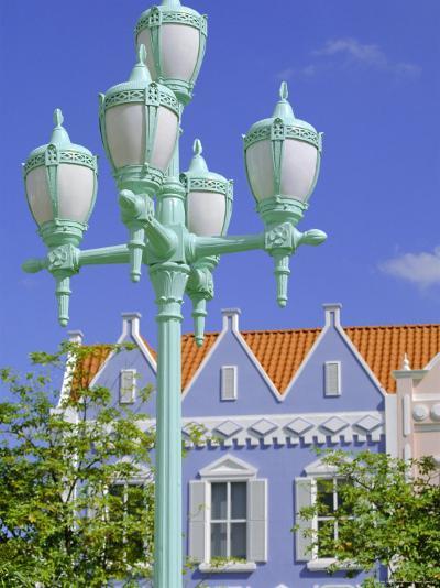 Typical Pastel Shades on Mock Dutch Architecture, Aruba, Dutch Antilles, Caribbean, West Indies-Ken Gillham-Photographic Print