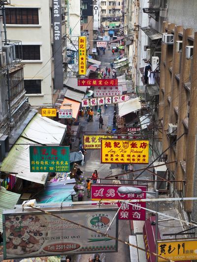 Typical Street, Hong Kong, China-Julie Eggers-Photographic Print