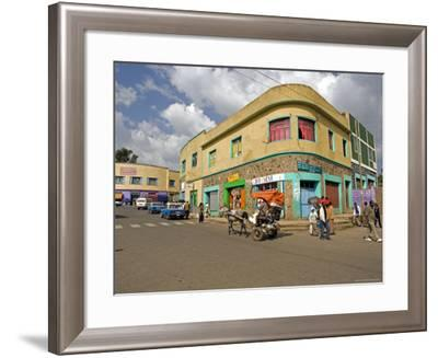 Typical Street Scene in Gonder, Gonder, Gonder Region, Ethiopia, Africa-Gavin Hellier-Framed Photographic Print