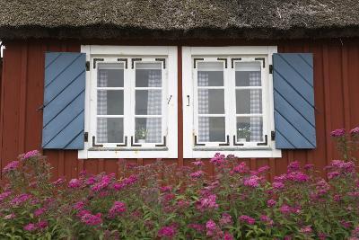 Typical Swedish Cottage Window, Arild, Kulla Peninsula, Skane, South Sweden, Sweden, Scandinavia-Stuart Black-Photographic Print