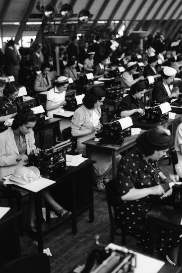 Typists Working, Italy, 1938-Armando Bruni-Giclee Print