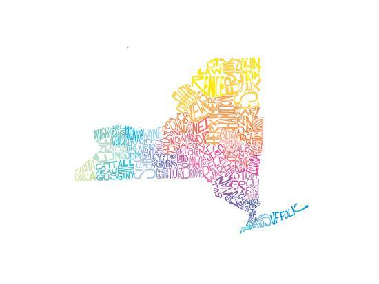 Typographic New York Spring-CAPow-Art Print