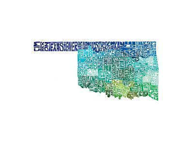 Typographic Oklahoma Cool-CAPow-Art Print