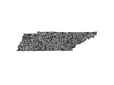 Typographic Tennessee-CAPow-Art Print
