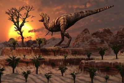 Tyrannosaurus Rex Calling Out to Find a Possible Mate--Art Print