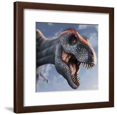 Tyrannosaurus Rex Head--Framed Art Print