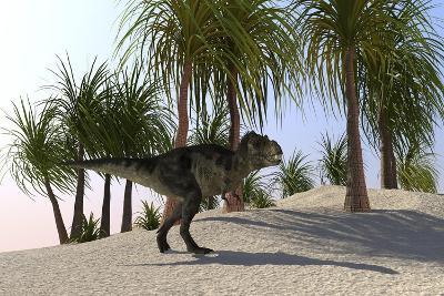 Tyrannosaurus Rex Hunting for its Next Meal--Art Print