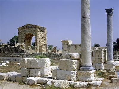 Tyre, Lebanon, Tuinds of Antique Town with Triumphal Arch--Giclee Print