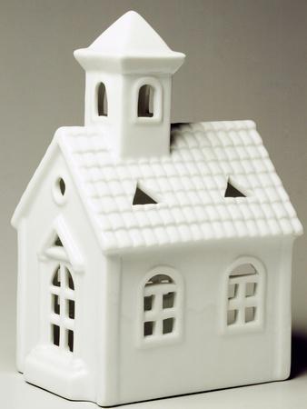 Tyrolean Church, Miniature, Ceramic, La Porcellana Bianca, Italy--Giclee Print