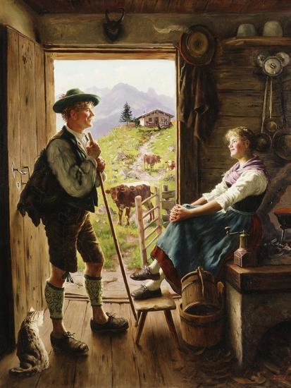 Tyrolean Couple-Emil Karl Rau-Giclee Print