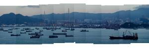 Stitched Photography of Hong Kong Harbor by Tyrone Turner