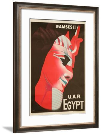 U.A.R. Egypt Poster by H. Hashem-David Pollack-Framed Photographic Print