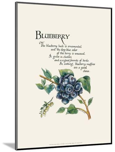 Blueberry-G^ Phillips-Mounted Art Print