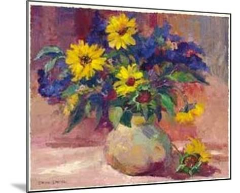 Sunflowers-Dawna Barton-Mounted Art Print
