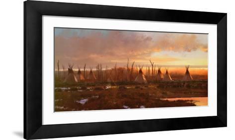 Blackfeet Camp-Michael Coleman-Framed Art Print