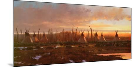 Blackfeet Camp-Michael Coleman-Mounted Art Print