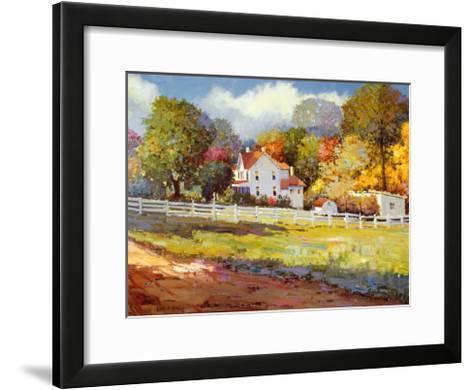 Early Autumn Farm-Kent Wallis-Framed Art Print