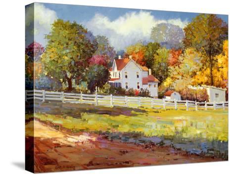 Early Autumn Farm-Kent Wallis-Stretched Canvas Print