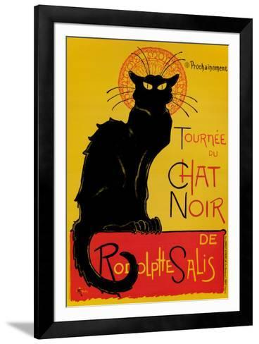 Chat Noir-Th?ophile Alexandre Steinlen-Framed Art Print