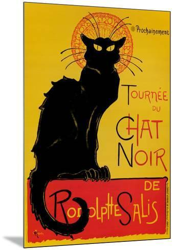 Chat Noir-Th?ophile Alexandre Steinlen-Mounted Art Print