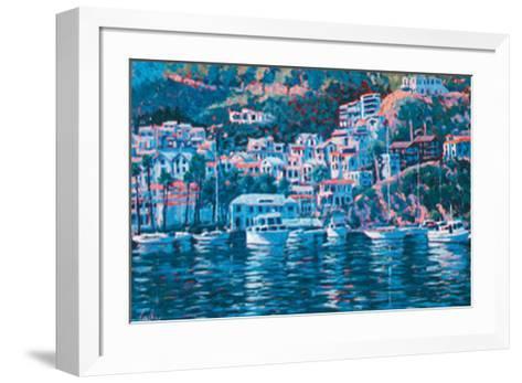 Harbor Reflections-John Cosby-Framed Art Print