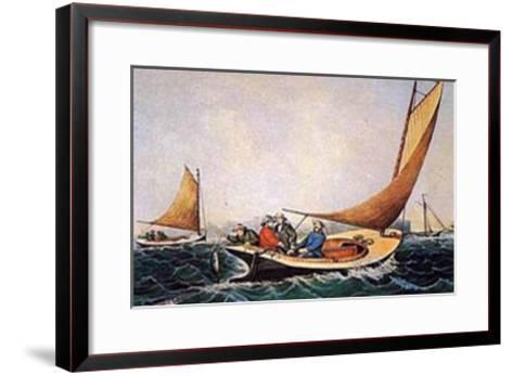 Trolling for Blue Fish-Currier & Ives-Framed Art Print