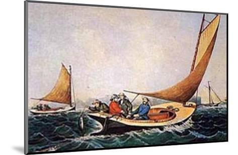 Trolling for Blue Fish-Currier & Ives-Mounted Art Print