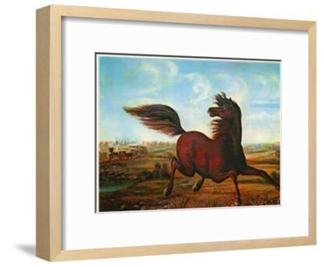 Neigh of an Iron Horse-A. Tapy-Framed Art Print