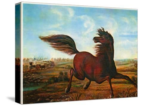 Neigh of an Iron Horse-A. Tapy-Stretched Canvas Print