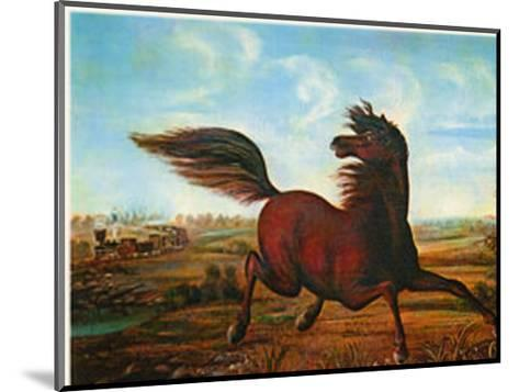 Neigh of an Iron Horse-A. Tapy-Mounted Art Print