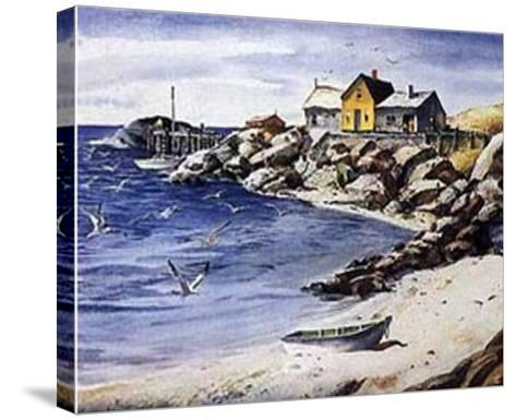 Surf Sand and Rocks-Henry Gasser-Stretched Canvas Print
