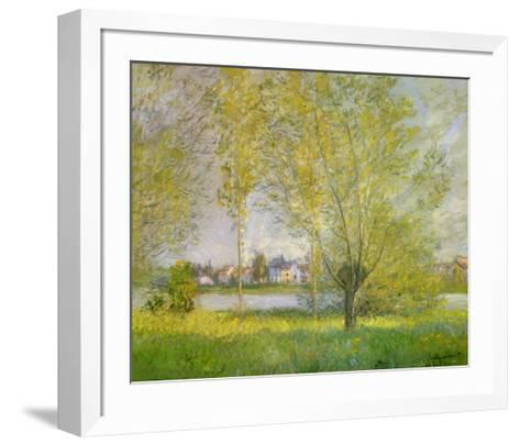 Willows of Vetheuil-Claude Monet-Framed Art Print