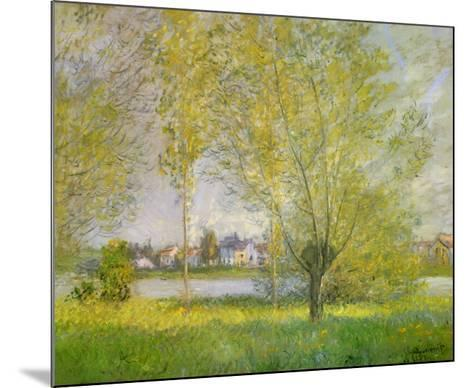 Willows of Vetheuil-Claude Monet-Mounted Art Print