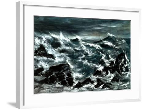 Stormy Waters-Anna Cohran-Framed Art Print