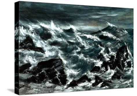 Stormy Waters-Anna Cohran-Stretched Canvas Print