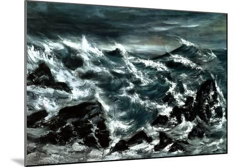 Stormy Waters-Anna Cohran-Mounted Art Print