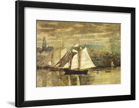 Gloucester Schooners and Sloop-Winslow Homer-Framed Art Print