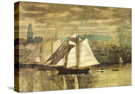 Gloucester Schooners and Sloop-Winslow Homer-Stretched Canvas Print