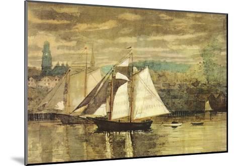 Gloucester Schooners and Sloop-Winslow Homer-Mounted Art Print
