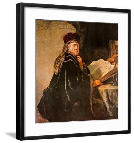 Rabbi-Rembrandt van Rijn-Framed Art Print