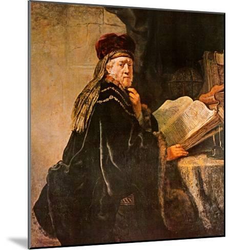 Rabbi-Rembrandt van Rijn-Mounted Art Print