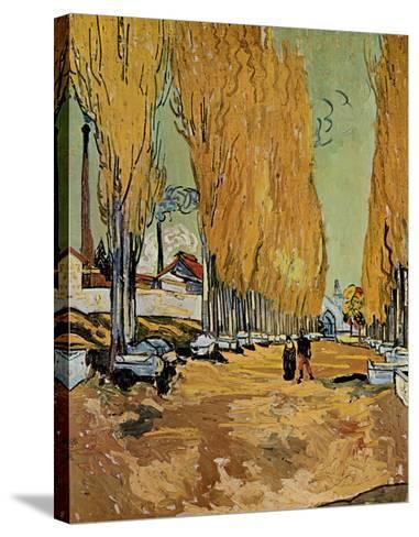 Allee des Alyscamps-Vincent van Gogh-Stretched Canvas Print